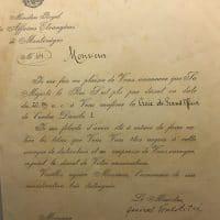 Povelja o odlikovanju Frotingama medaljom Crne Gore Princ Danilo s potpisom generala Janka Vukotića pod rednim brojem 64, april 1915. Cetinje